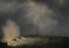 Explosion at Antwerp of Dutch Gunboat No. 2, Commanded by Jan van Speyk, 5 February 1831