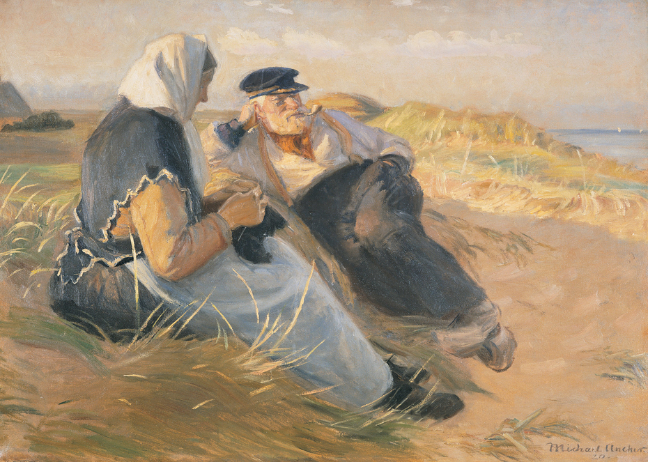 Fisherman Anders Velle and His Wife, Ane, on Skagen Beach