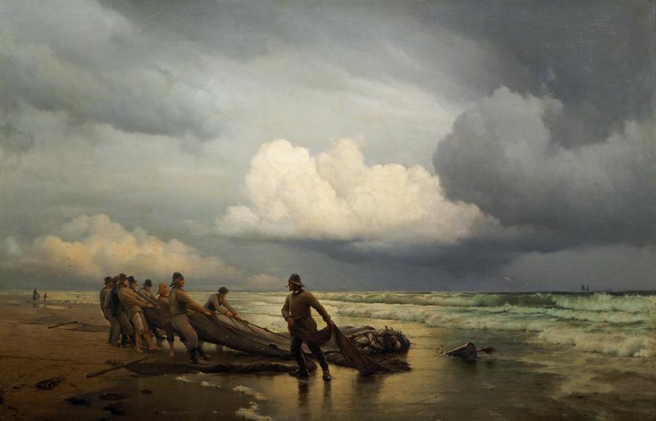 Fiskere trækker våd på Skagen Nordstrand