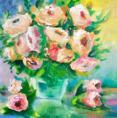 Flowers, oil painting