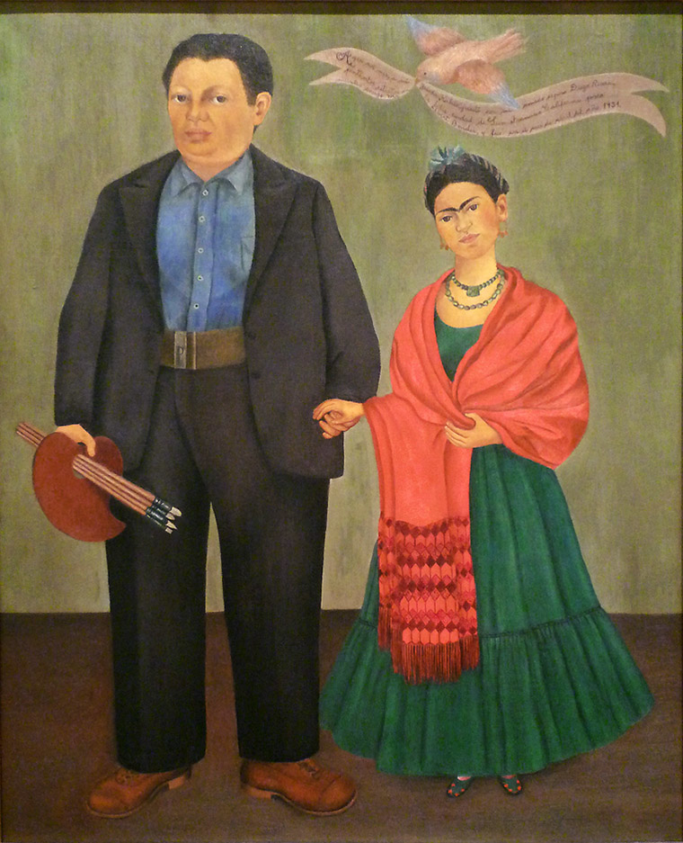 Frida and Diego Rivera or Frida Kahlo and Diego Rivera