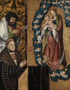 Friedrich der Weise vor Muttergottes