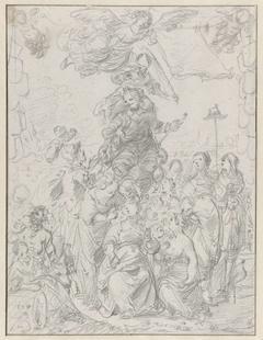 Frontispiece Design Sketch for Frederick Hendrick van Nassauw