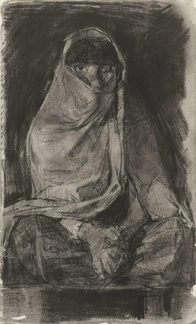 Gesluierde Arabische vrouw