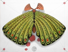 green moth - ORIGINAL SOLD