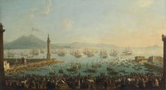 Hafen von Neapel mit Abfahrt Karls III. nach Spanien (1759)