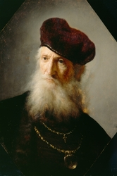 Head of a Bearded Old Man in High Beret
