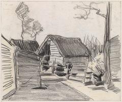Huisjes aan een dorpsweg