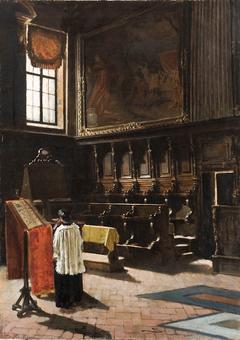 Il coro della chiesa di Abate a Milano.