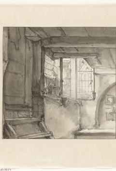 Interieur met openstaand raam
