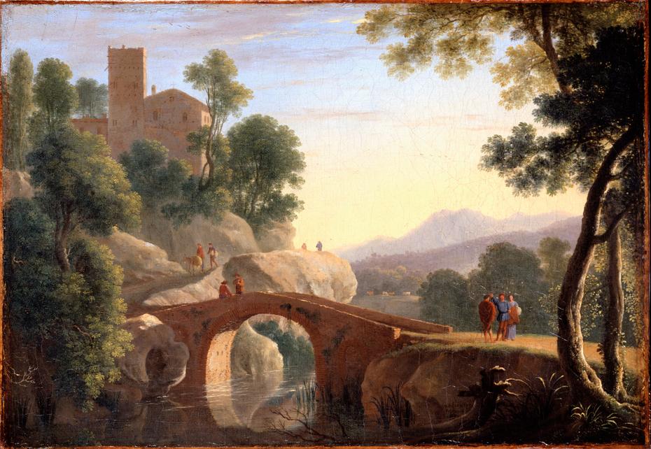 Italian Landscape with Bridge