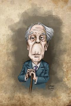J. L. Borges -caricature