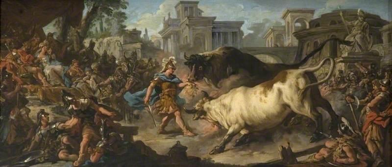 Jason Taming the Bulls of Aeetes