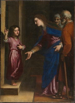 Jesús niño en la puerta del Templo