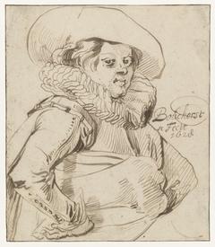 Jonge man, ten halven lijve, driekwart naar rechts (zelfportret?)