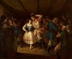 Krakowiak dance in an inn.