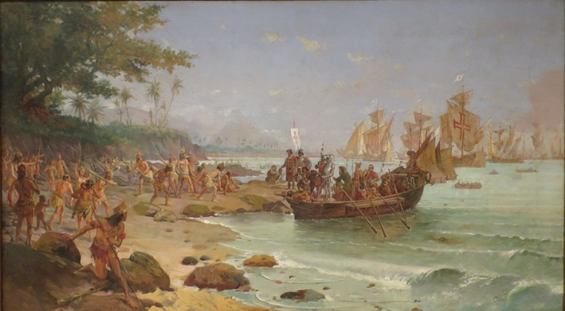 """Landing Of Pedro Álvares Cabral In Porto Seguro, In 1500"