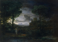 Landscape with Jacob Wrestling with the Angel (Night)
