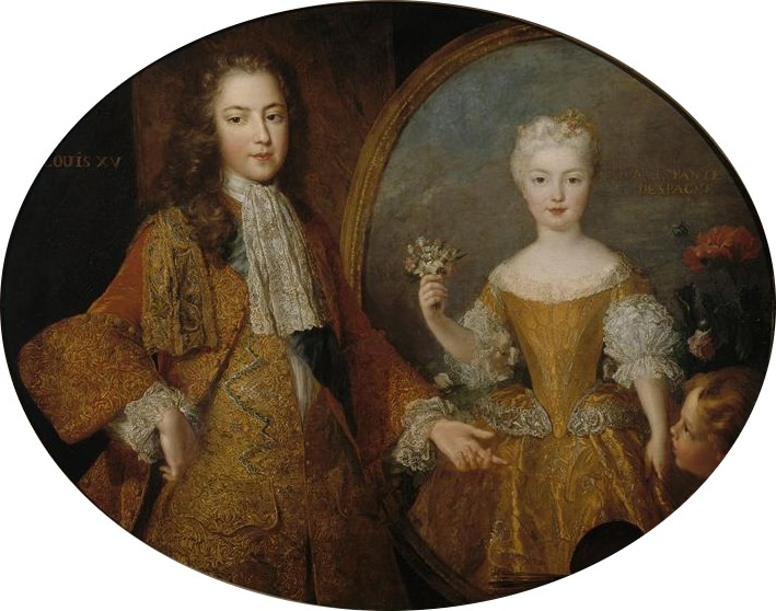 Louis XV and the Infanta Marie-Anne-Victoire
