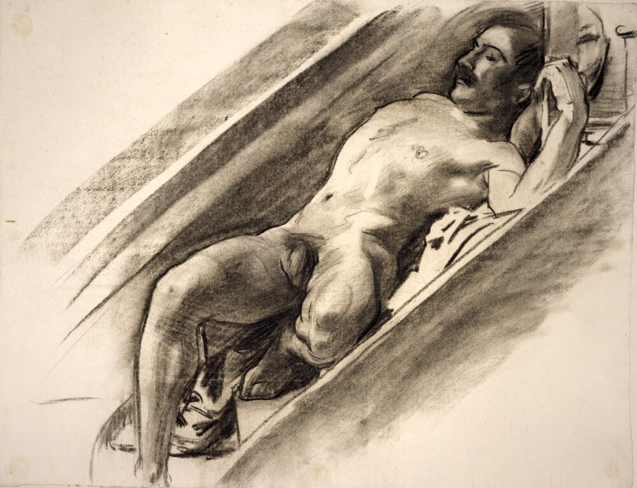 Male Reclining on a Stairway
