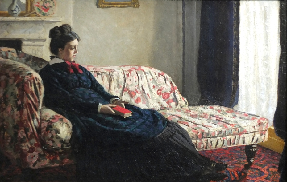 Meditation. Madame Monet on the Sofa