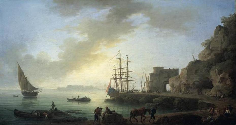 Mediterranean Port at Dawn