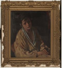 Meisjesfiguur in kimono Jeanne Freeken