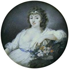 Miniature of Countess Pociej as Flora.