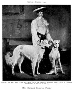 Mrs. Blair with her Dogs