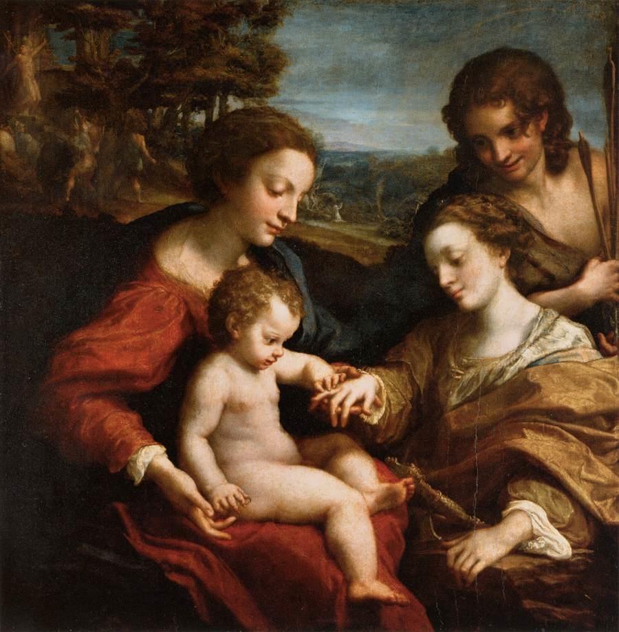 Mystic Marriage of Saint Catherine of Alexandria with Saint Sebastian