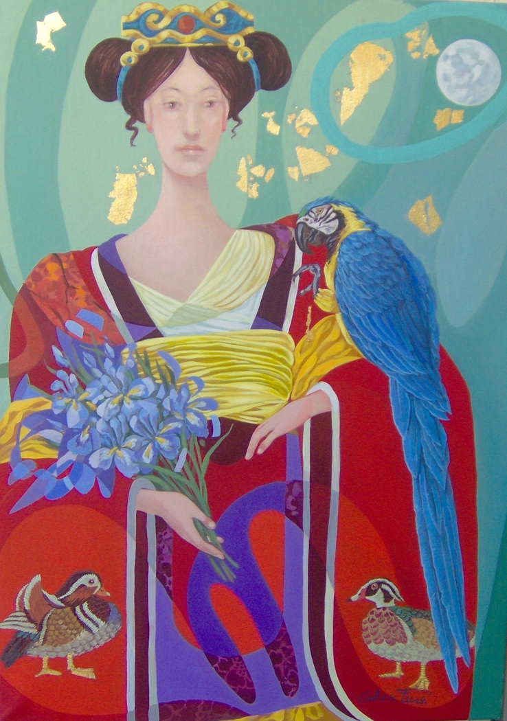 Namban Woman with Macaw