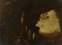 Nymphs in a Grotto with Ancient Ruins