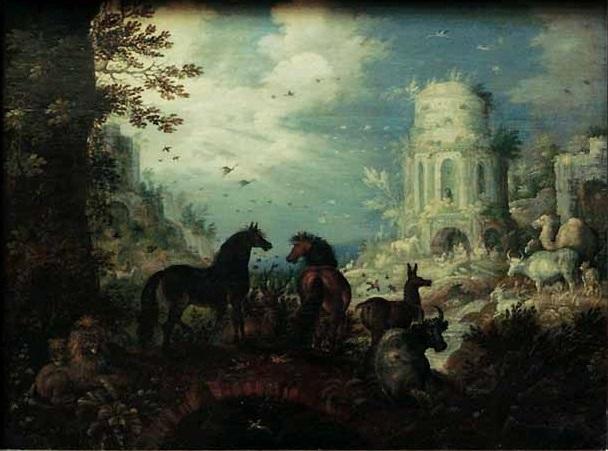 Orphée charmant les animaux