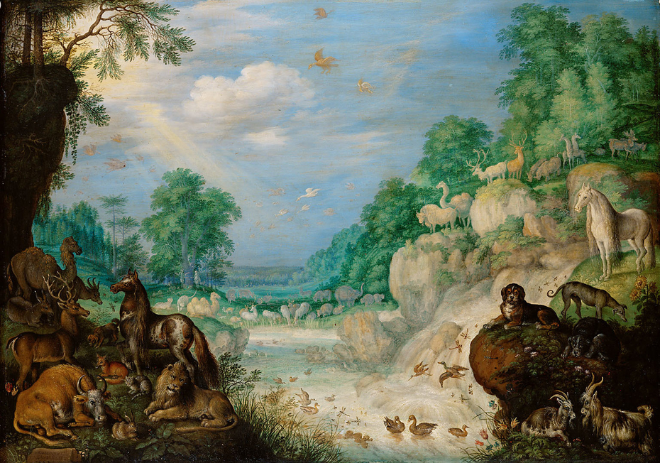 Paradies (Im Hintergrund: Der Sündenfall)