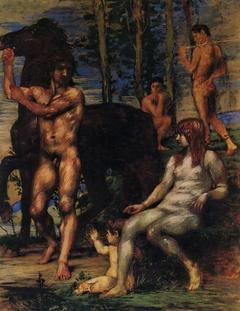 Pferdeführer und Nymphe