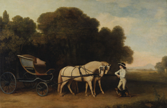 Phaeton with a Pair of Cream Ponies and a Stable-Lad