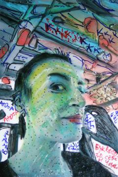 Portrait of a friend - artist from Kumanovo (Ana Jovanovska)