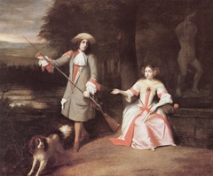 Portrait of a unknown man and woman