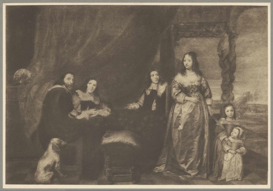 Portrait of an unknown family on a terrace, 1645-1648