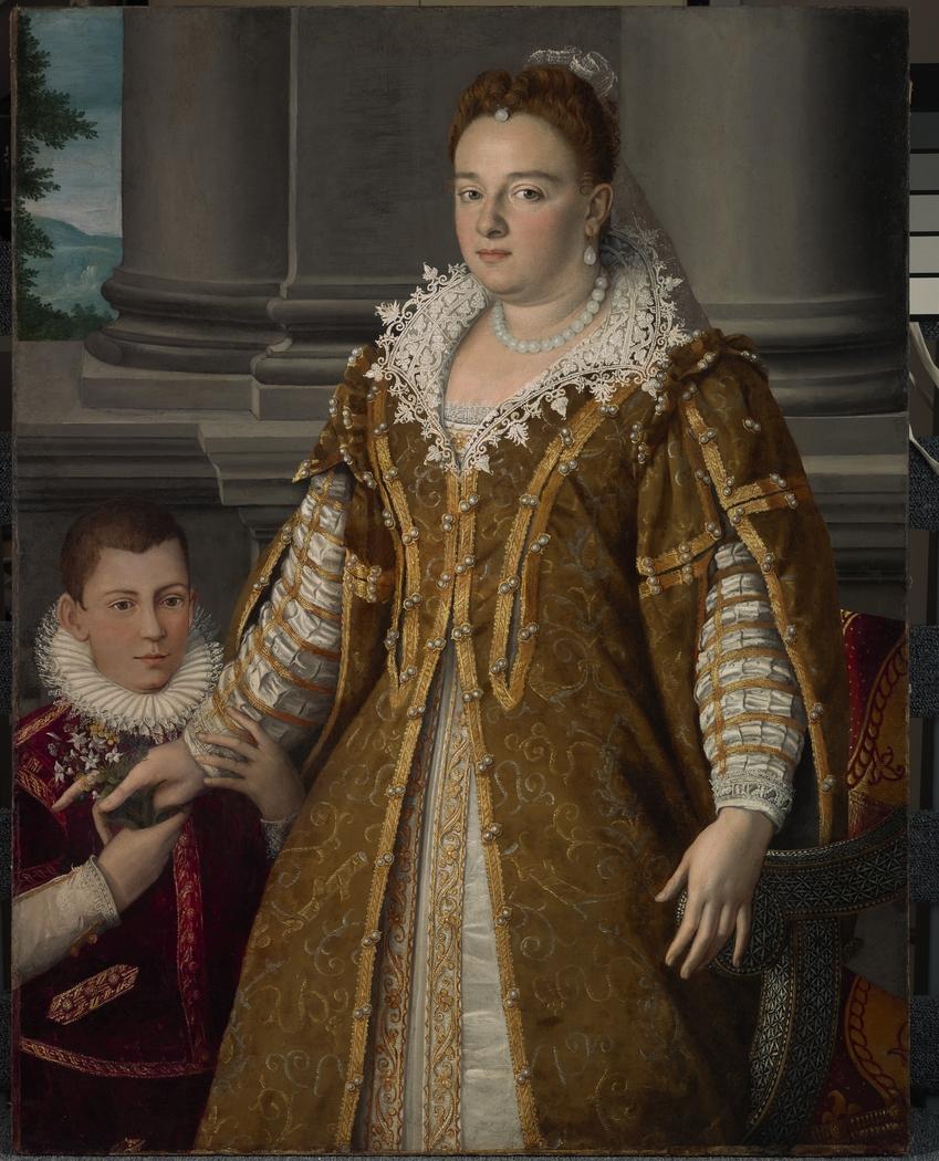 Portrait of Grand Duchess Bianca Capello de Medici with Her Son