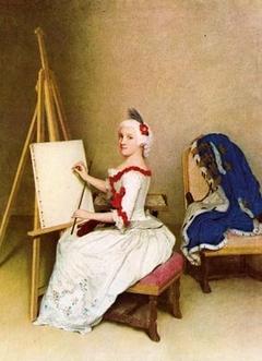 Portrait of Karoline Luise von Baden as pupil