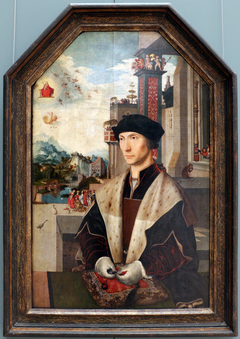 Portrait of the knight Abel van Coulster (1477-1548), representative to the Hof van Holland in 1512