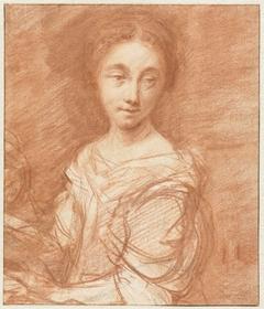 Portret van een onbekende jonge vrouw, ten halven lijve