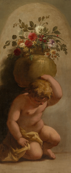 Putto Bearing a Vase of Flowers