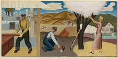 Resources of the Soil (Mural Study, Ukiah, California Post Office)