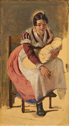 Roman woman with a child