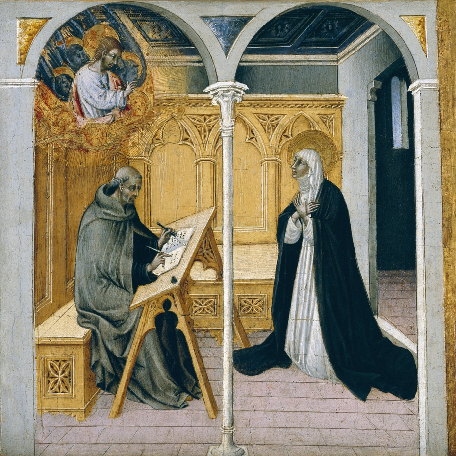 Saint Catherine of Siena Dictating Her Dialogues