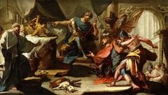 Saint Eustace refuses to honour the gods of Rome