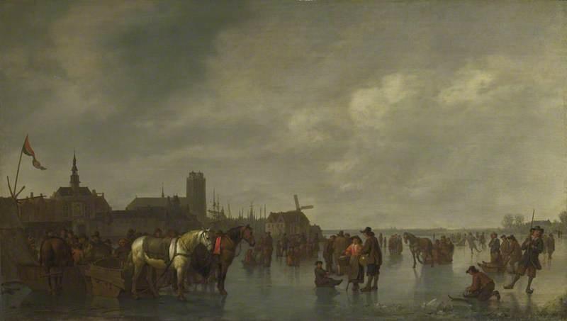 Scene on the Ice outside Dordrecht