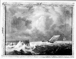 Schepen op een woeste zee